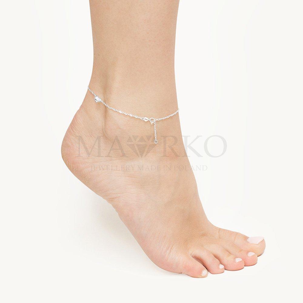 stylowa bransoletka na stopę