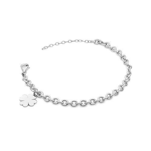 srebrna damska bransoletka