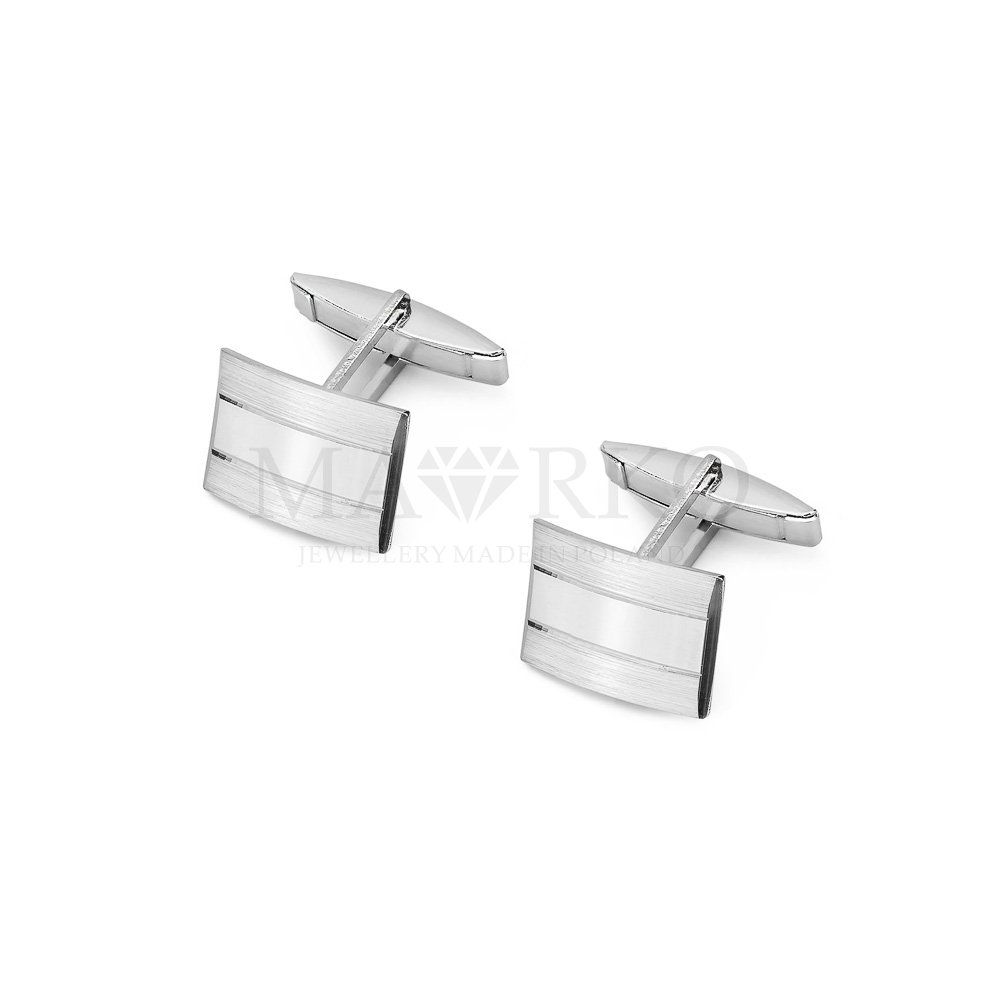 srebrne spinki do koszuli męskie