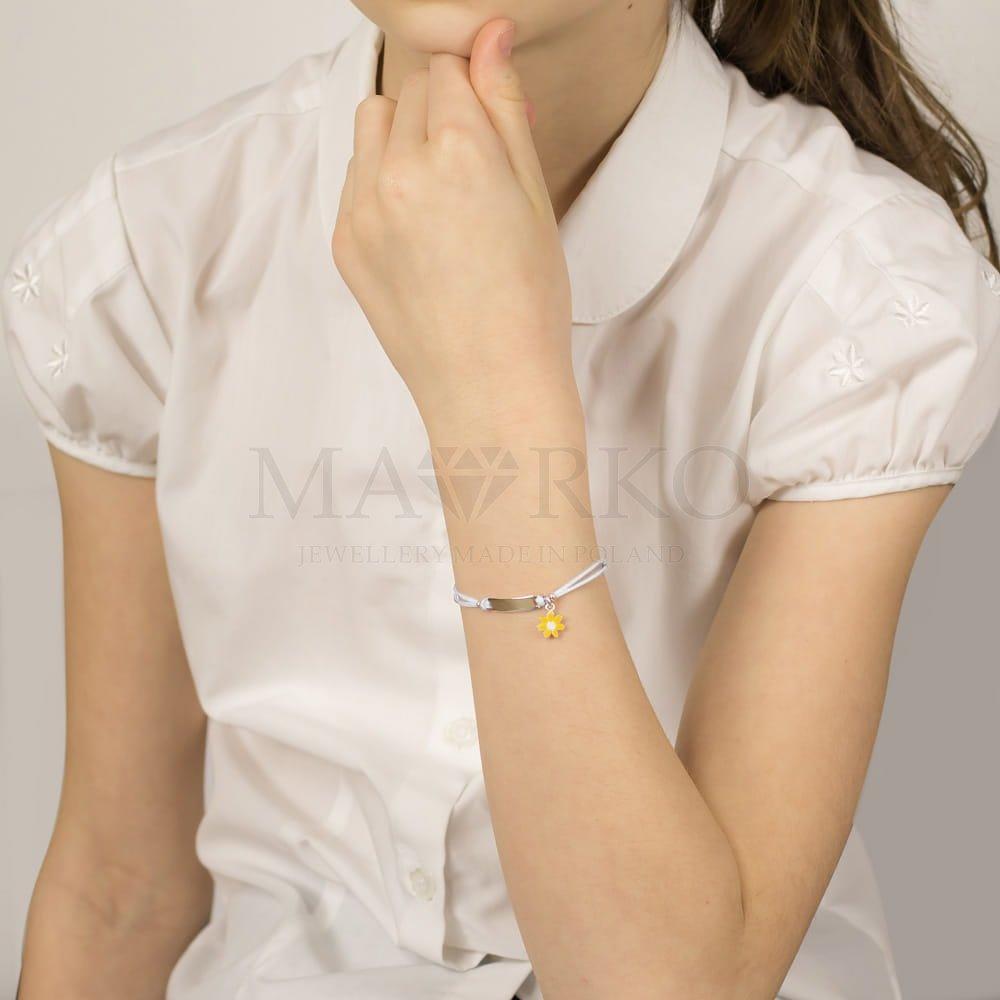 srebrna bransoletka dla dziewczynki